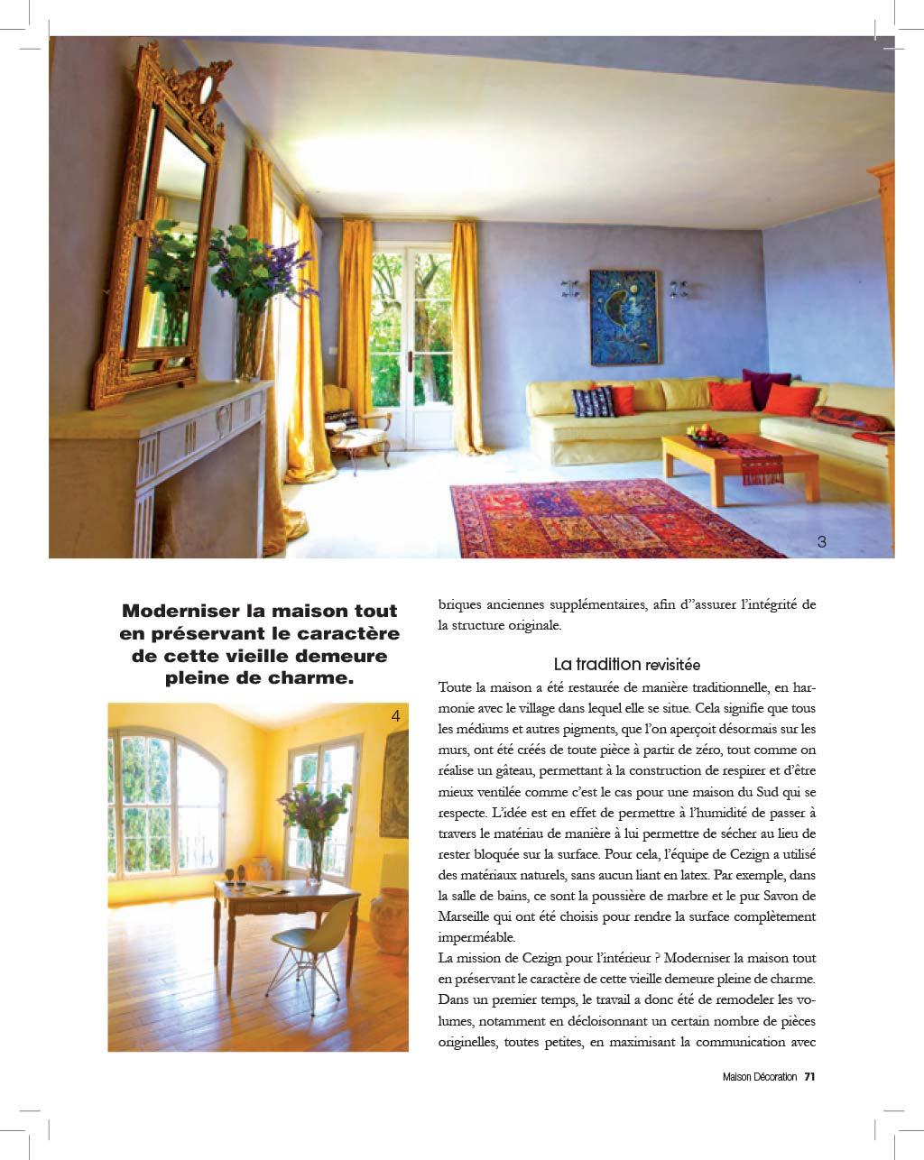 Cezign | Press | Maison Decoration - France