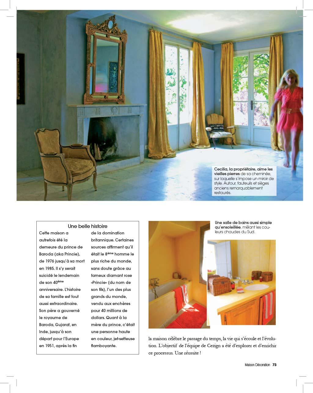 Cezign press maison decoration france for Decoration maison francaise
